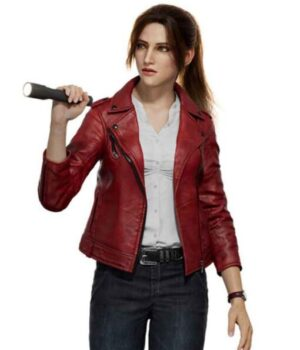 Resident-Evil-Infinite-Darkness-Claire-Redfield-Red-Leather-Jacket-Front