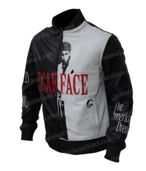 Scarface Al Pacino Tony Montana Bomber Jacket Side