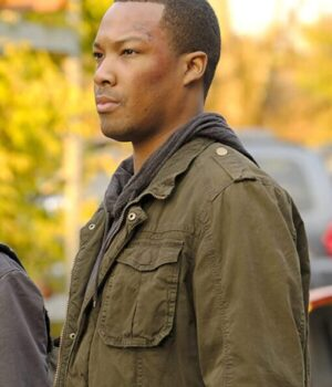 24 Legacy Eric Carter Green Cotton Jacket Side