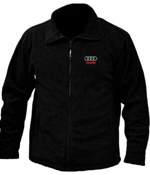 Audi Embroidered Logo Black Fleece Jacket