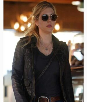 Big Sky Jenny Hoyt Real Leather Black Jacket