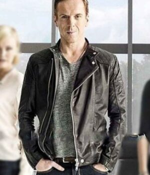 Billions Bobby Axelrod Black Leather Quilted Jacket