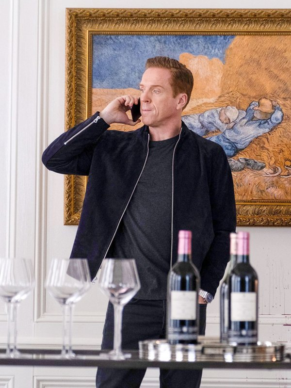 Billions S05 Bobby Axelrod Blue Suede Leather Jacket 2