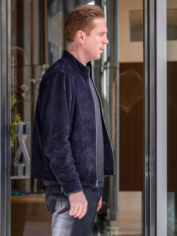 Billions S05 Bobby Axelrod Blue Suede Leather Jacket side