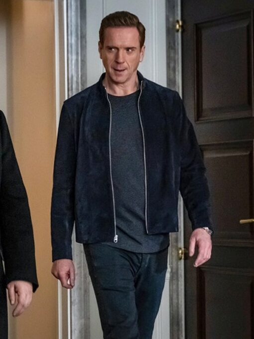 Billions S05 Bobby Axelrod Blue Suede Leather Jacket