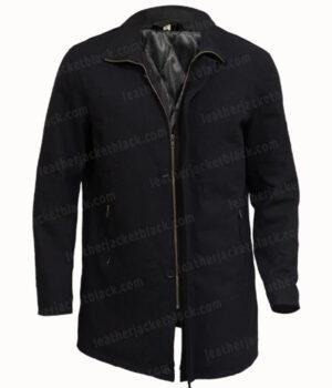 Counterpart Howard Silk Black Cotton Jacket Front