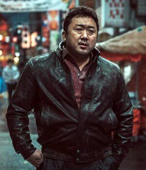 Dong-Seok The Eternals Gilgamesh Black Leather Jacket