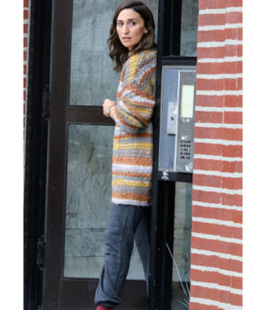 Girls5eva Sara Bareilles Multicolor Fleece Coat 2