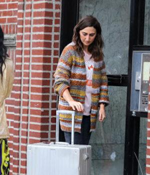 Girls5eva Sara Bareilles Multicolor Fleece Coat