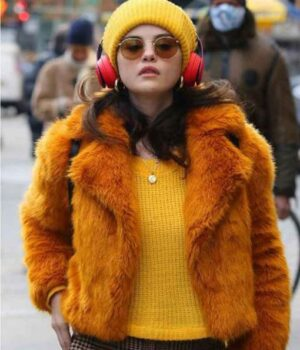 Only Murders In The Building Mabel Mora Orange Fur Jacket