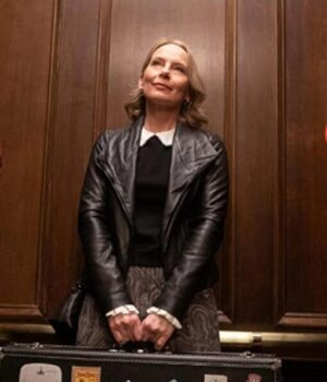 Only Murders in the Building Amy Ryan Black Leather Jacket