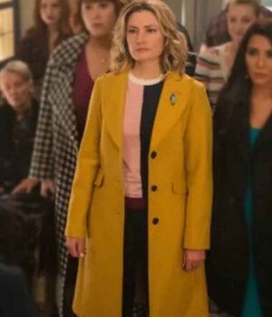 Riverdale Alice Cooper Yellow Wool-Blend Coat 2