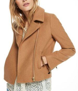 Riverdale Betty Cooper Brown Biker Leather Jacket
