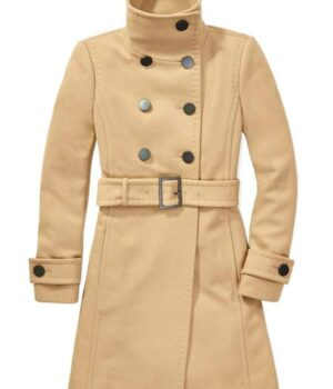 Riverdale Betty Cooper Camel Wool Peacoat Fornt