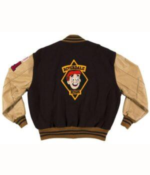 Riverdale Pep Comic Archie Andrews Brown Varsity Jacket Back