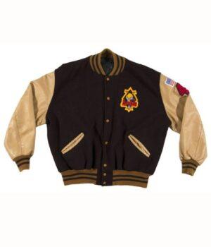 Riverdale Pep Comic Archie Andrews Brown Varsity Jacket Front