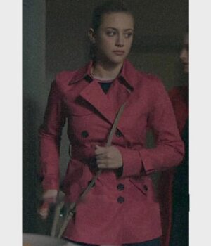 Riverdale S02 Betty Cooper Pink Wool Peacoat 2