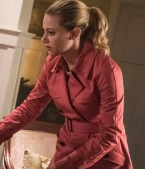 Riverdale S02 Betty Cooper Pink Wool Peacoat