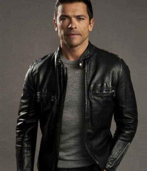 Riverdale S02 Hiram Lodge Black Real Leather Jacket