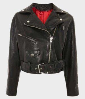 Riverdale S03 Betty Cooper Black Biker Leather Jacket 2