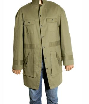 Spider Man Into The Spider-Verse Peter B Parker Green Cotton Coat