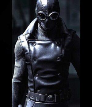 Spider-Man Into the Spider-Verse Noir Black Leather Vest