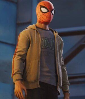 Spider-Man Miles Morales Grey Fleece Hoodie
