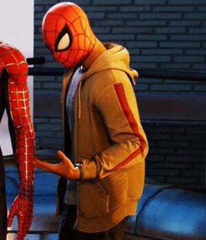 Spider-Man Miles Morales Grey Fleece Hoodie Side