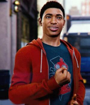 Spider-Man Miles Morales Red Hoodie