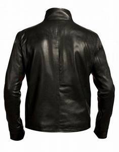 Spiderman 3 Eddie Brock Venom Black Leather Jacket Back