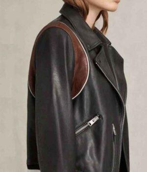 Stumptown Dex Parios Biker Black Leather Jacket side