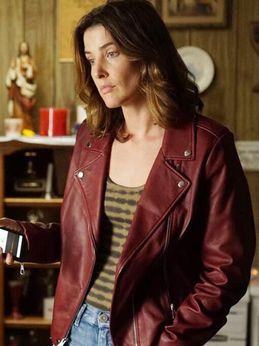 Stumptown S02 Dex Parios Red Biker Leather Jacket