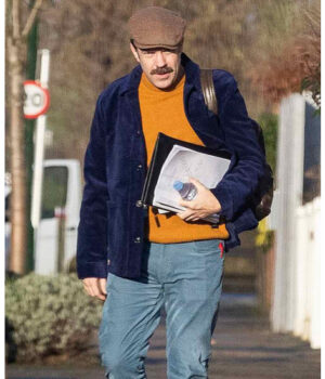 Ted Lasso Jason Sudeikis Purple Velvet Jacket