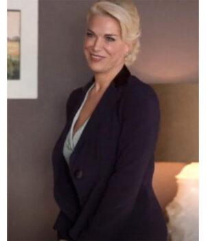 Ted Lasso Rebecca Welton Suiting Fabric Purple Blazer Side