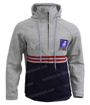 Ted lasso Phil Dunster Track Hooded Jacket Front