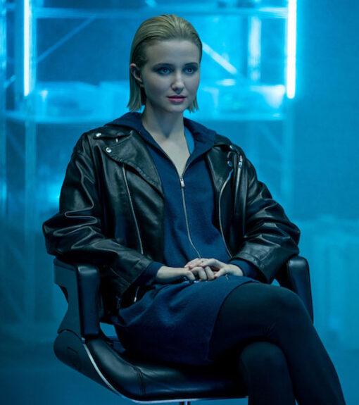 The Girlfriend Experience S03 Iris Black Biker Jacket